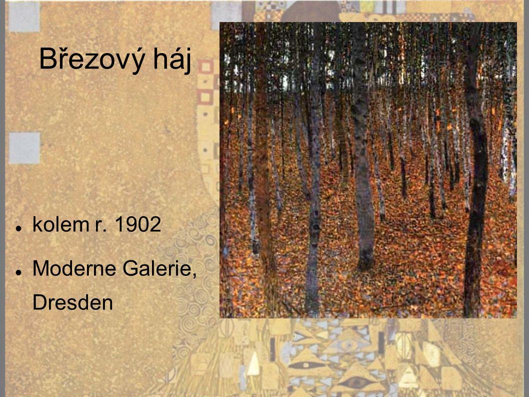 Březový háj kolem r. 1902 Moderne Galerie, Dresden