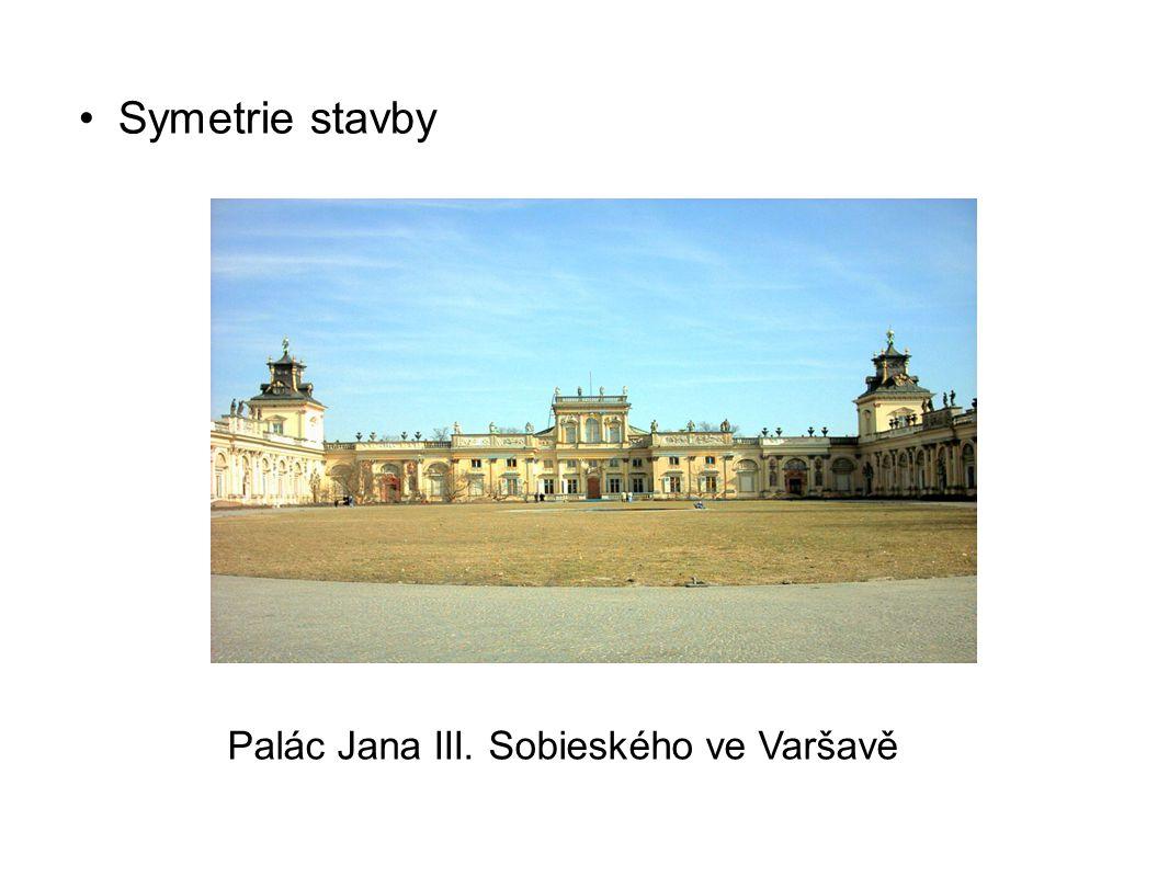 Symetrie stavby Palác Jana III. Sobieského ve Varšavě
