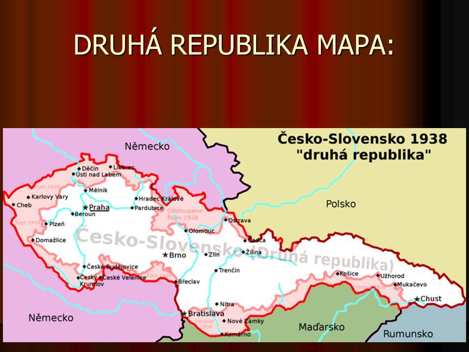 DRUHÁ REPUBLIKA MAPA: