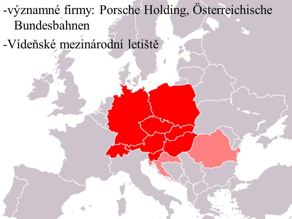 -významné firmy: Porsche Holding, Österreichische Bundesbahnen