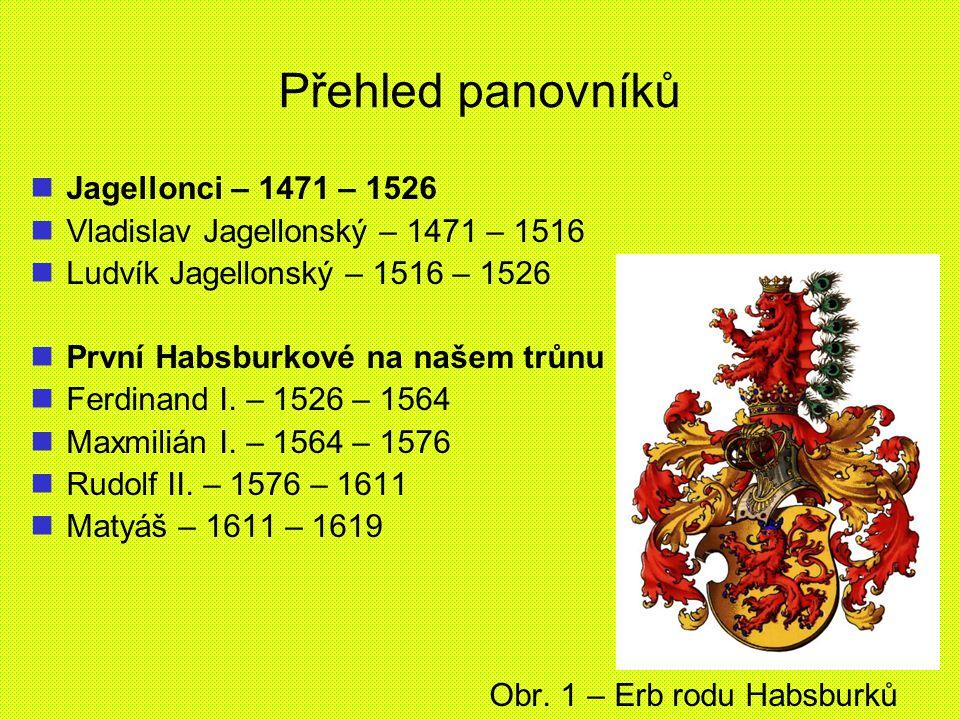 Přehled panovníků Jagellonci – 1471 – 1526