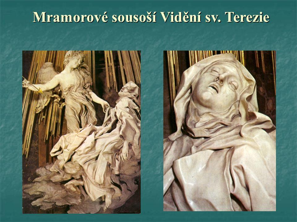 Mramorové sousoší Vidění sv. Terezie