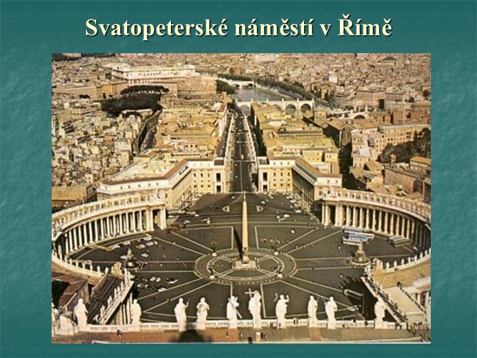 Svatopeterské náměstí v Římě
