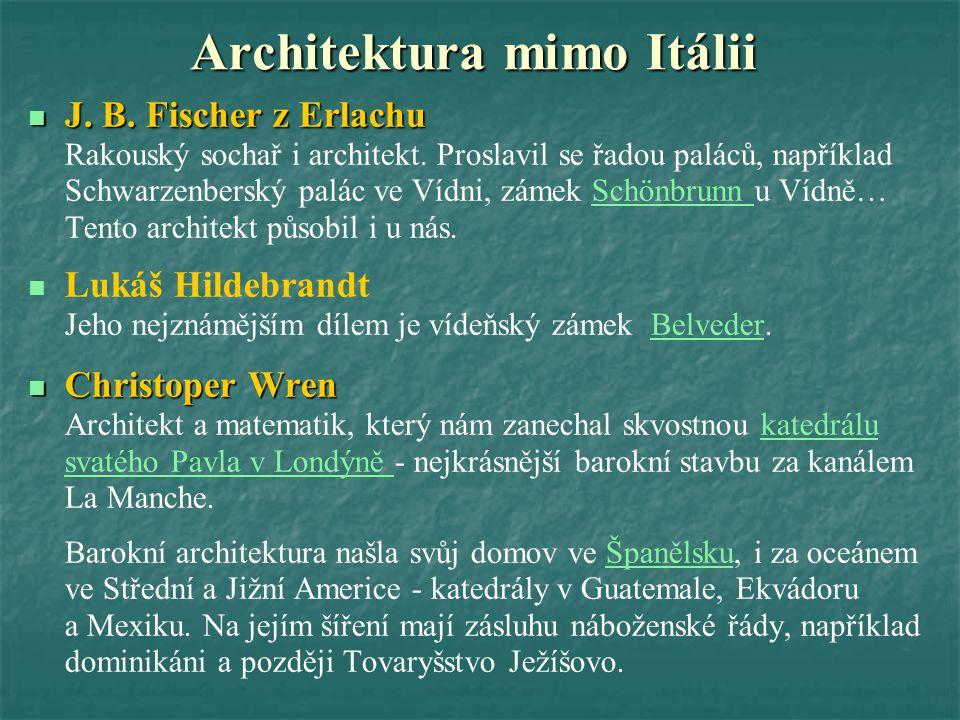 Architektura mimo Itálii