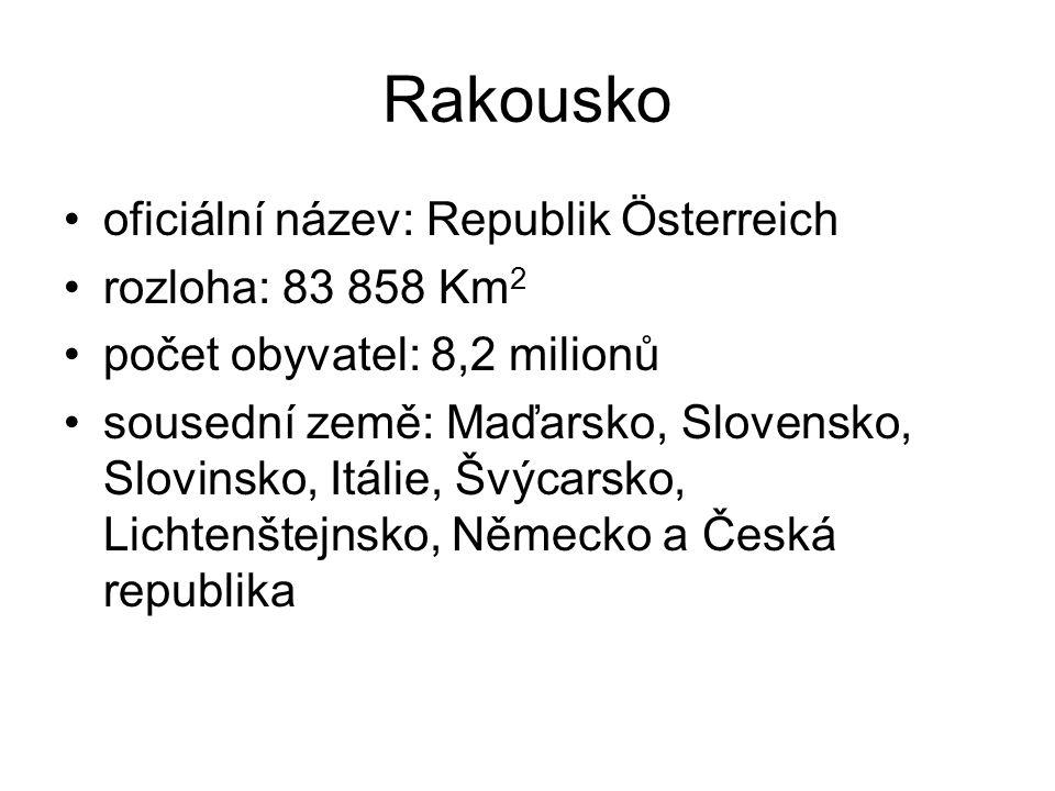 Rakousko oficiální název: Republik Österreich rozloha: 83 858 Km2