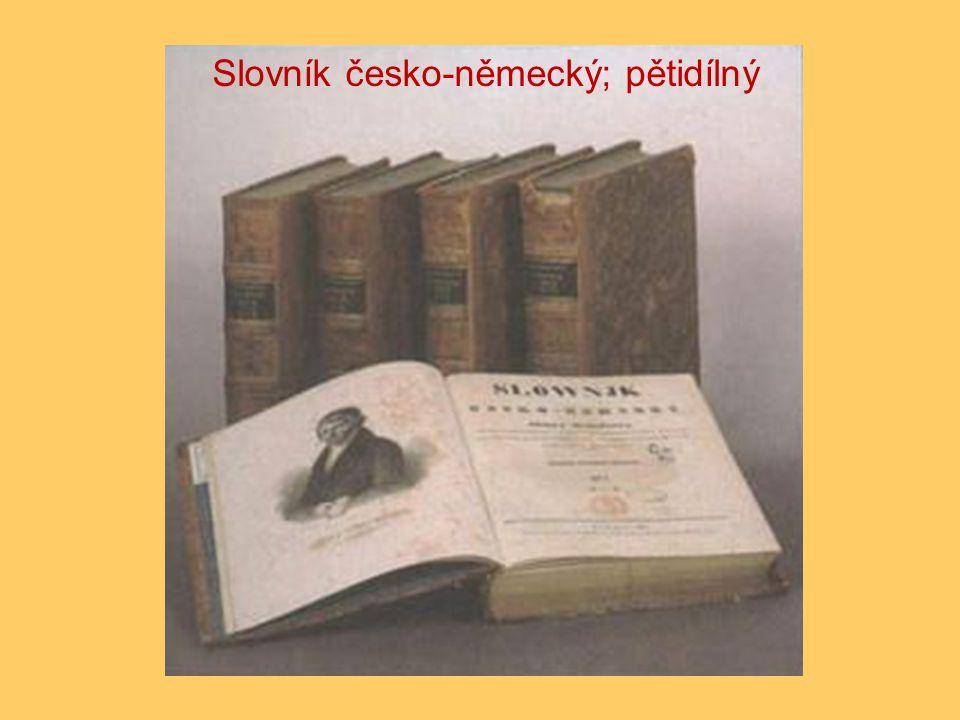 Slovník česko-německý; pětidílný