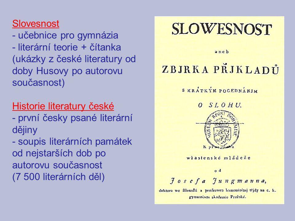 - učebnice pro gymnázia - literární teorie + čítanka