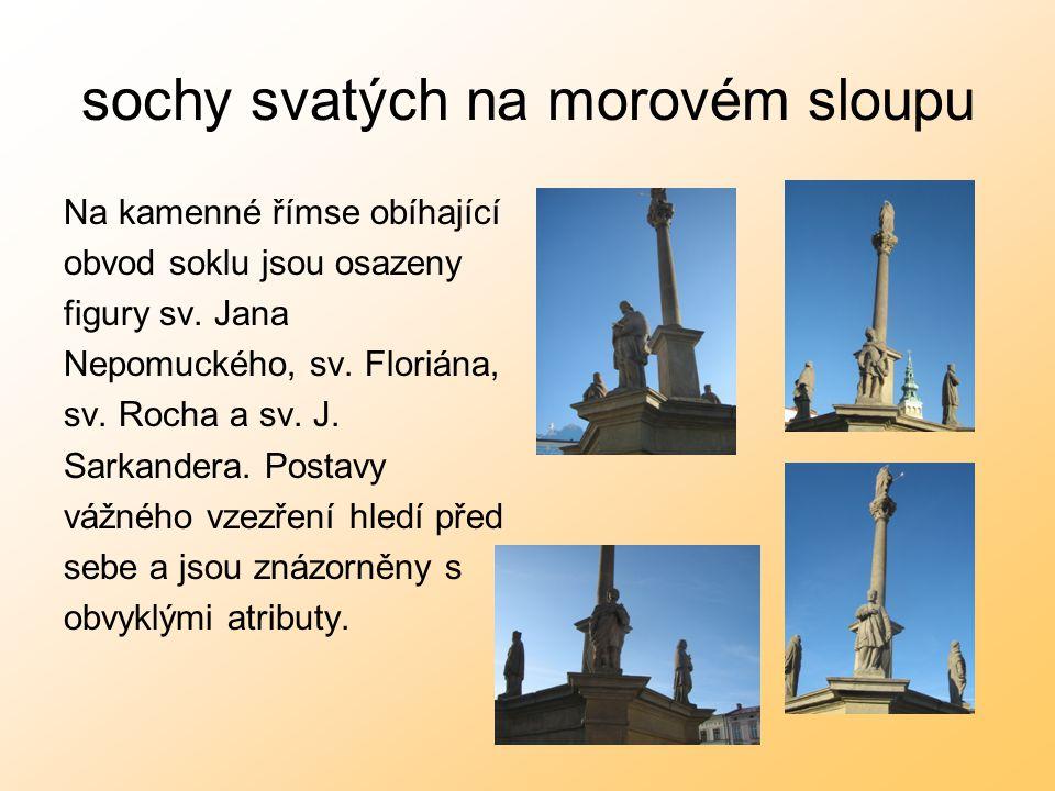 sochy svatých na morovém sloupu