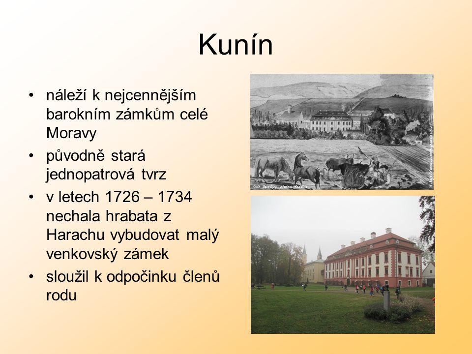 Kunín náleží k nejcennějším barokním zámkům celé Moravy