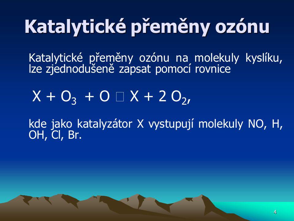 Katalytické přeměny ozónu