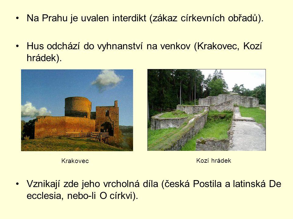 Na Prahu je uvalen interdikt (zákaz církevních obřadů).