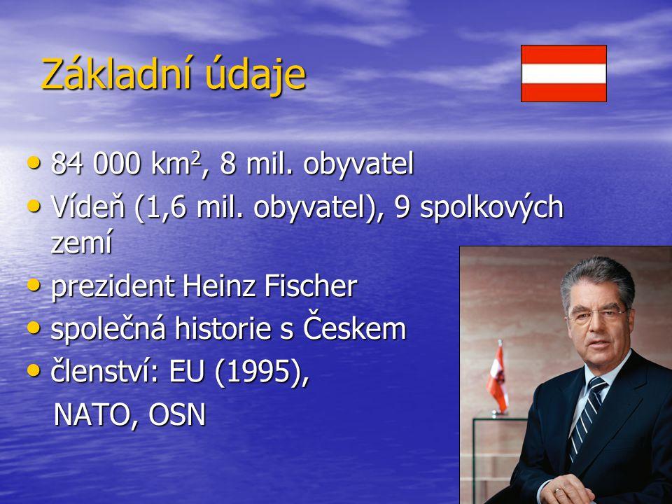 Základní údaje 84 000 km2, 8 mil. obyvatel