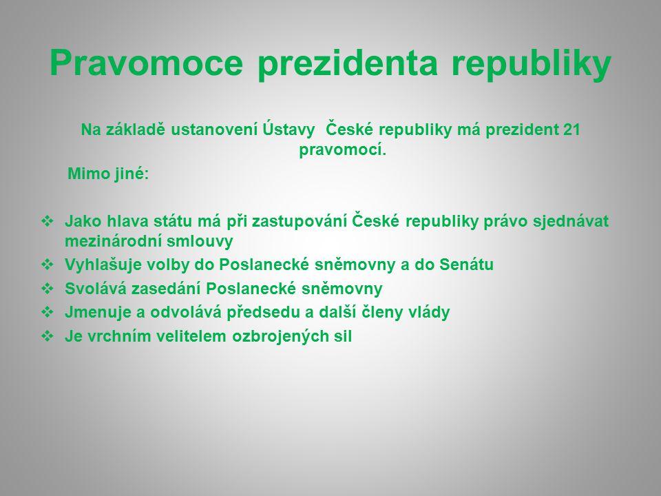 Pravomoce prezidenta republiky