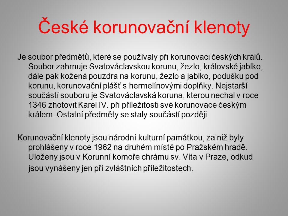 České korunovační klenoty