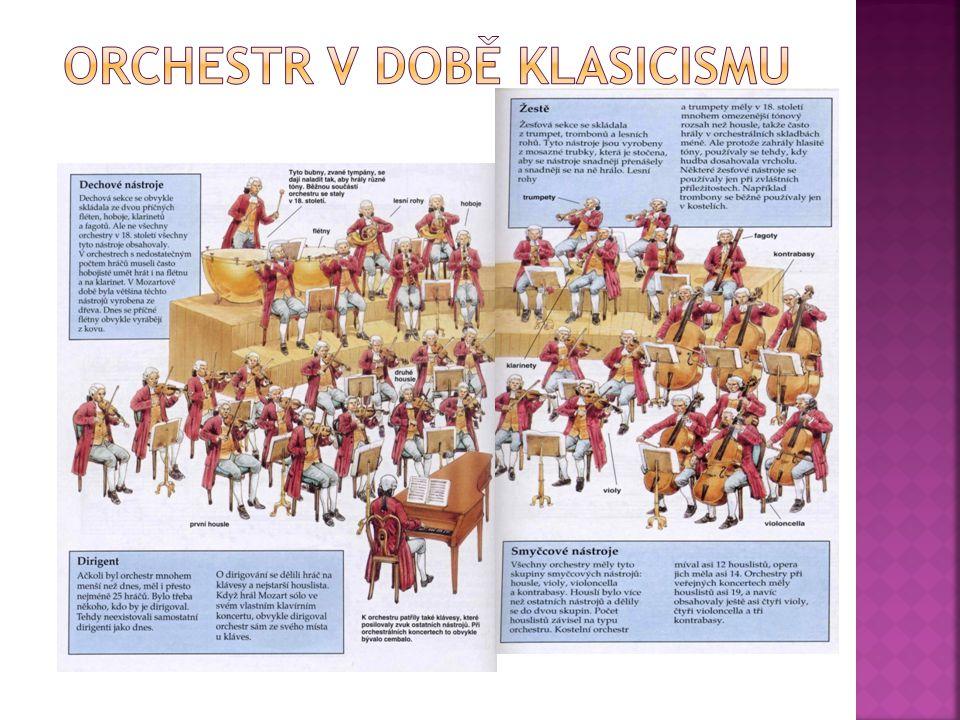 ORCHESTR V DOBĚ KLASICISMU