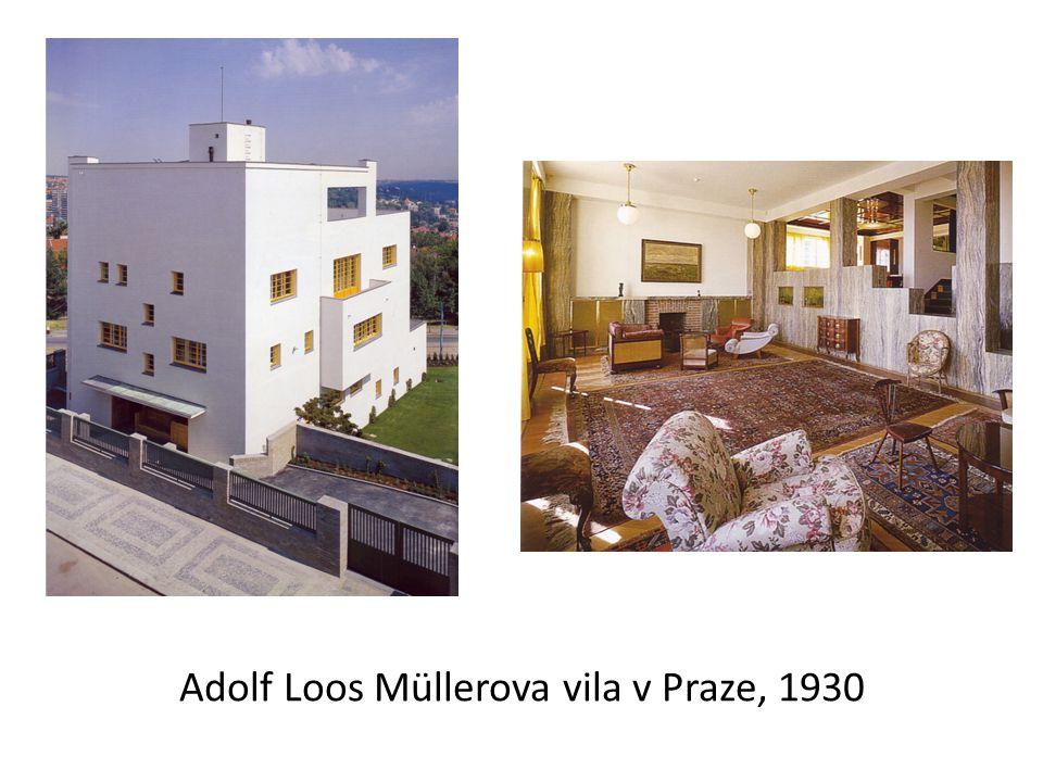 Adolf Loos Müllerova vila v Praze, 1930