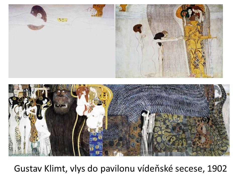Gustav Klimt, vlys do pavilonu vídeňské secese, 1902