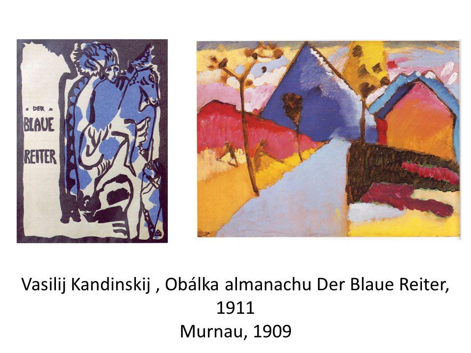 Vasilij Kandinskij , Obálka almanachu Der Blaue Reiter, 1911 Murnau, 1909