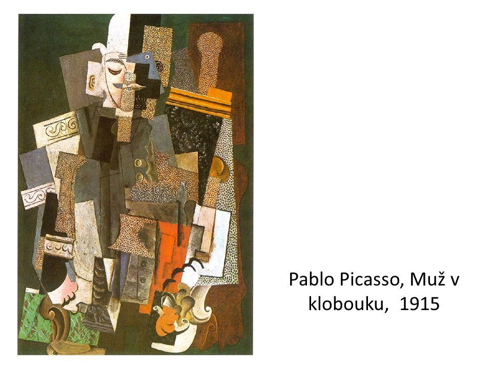 Pablo Picasso, Muž v klobouku, 1915