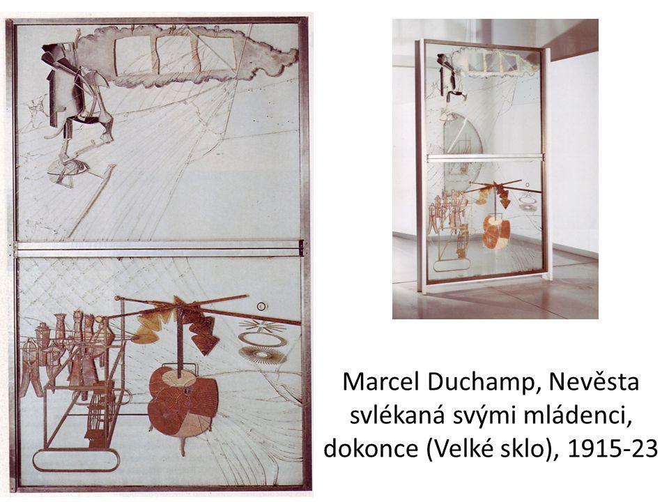 Marcel Duchamp, Nevěsta svlékaná svými mládenci, dokonce (Velké sklo), 1915-23