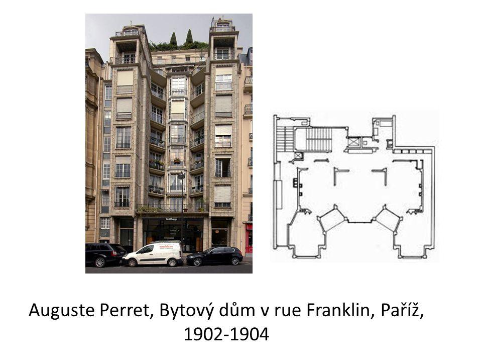 Auguste Perret, Bytový dům v rue Franklin, Paříž, 1902-1904