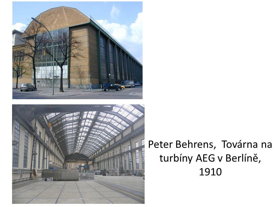 Peter Behrens, Továrna na turbíny AEG v Berlíně, 1910