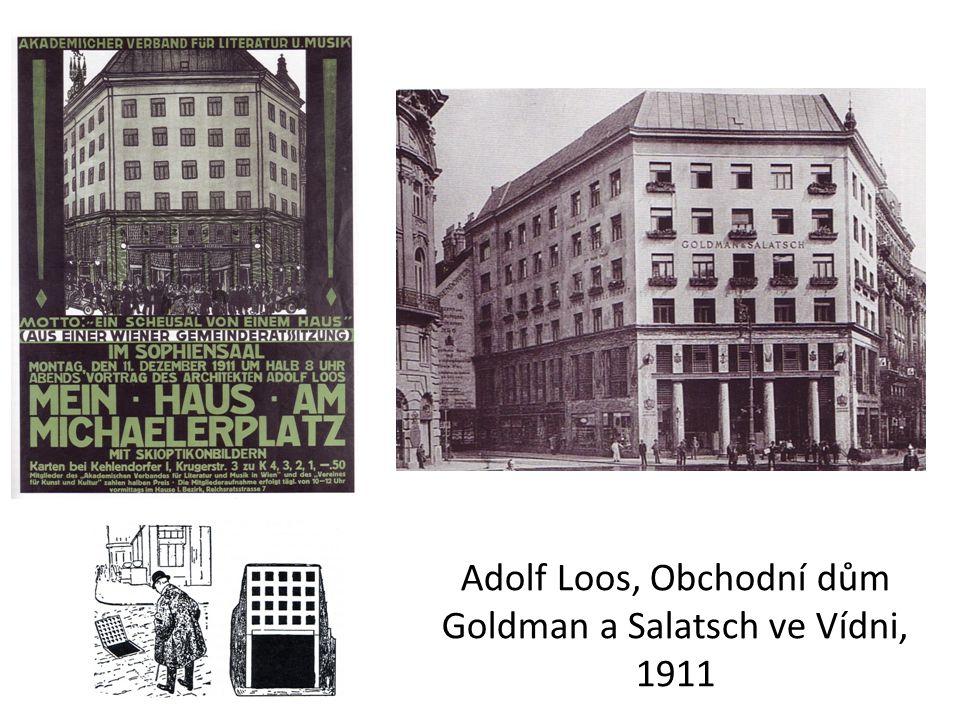 Adolf Loos, Obchodní dům Goldman a Salatsch ve Vídni, 1911