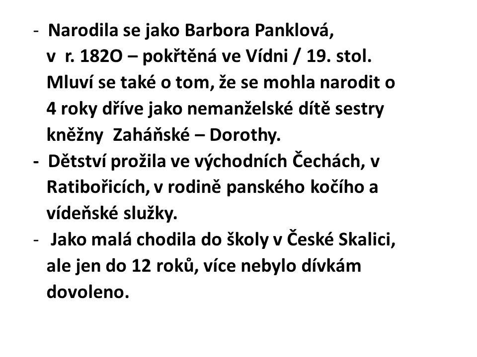 - Narodila se jako Barbora Panklová,