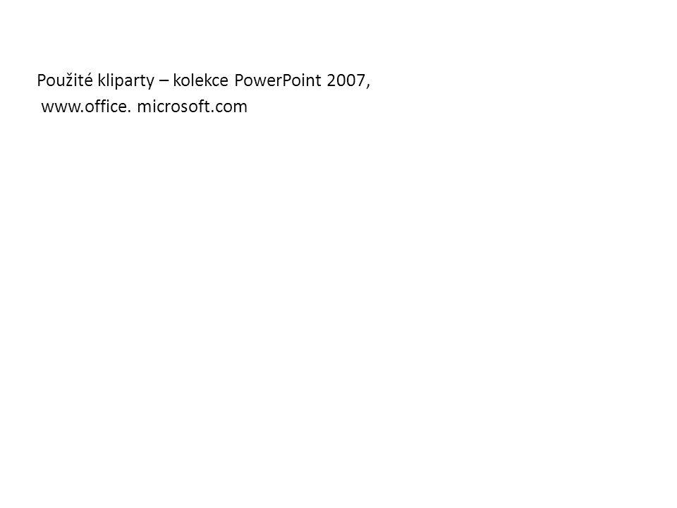 Použité kliparty – kolekce PowerPoint 2007,