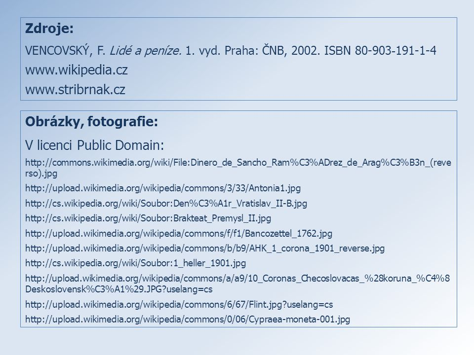 V licenci Public Domain: