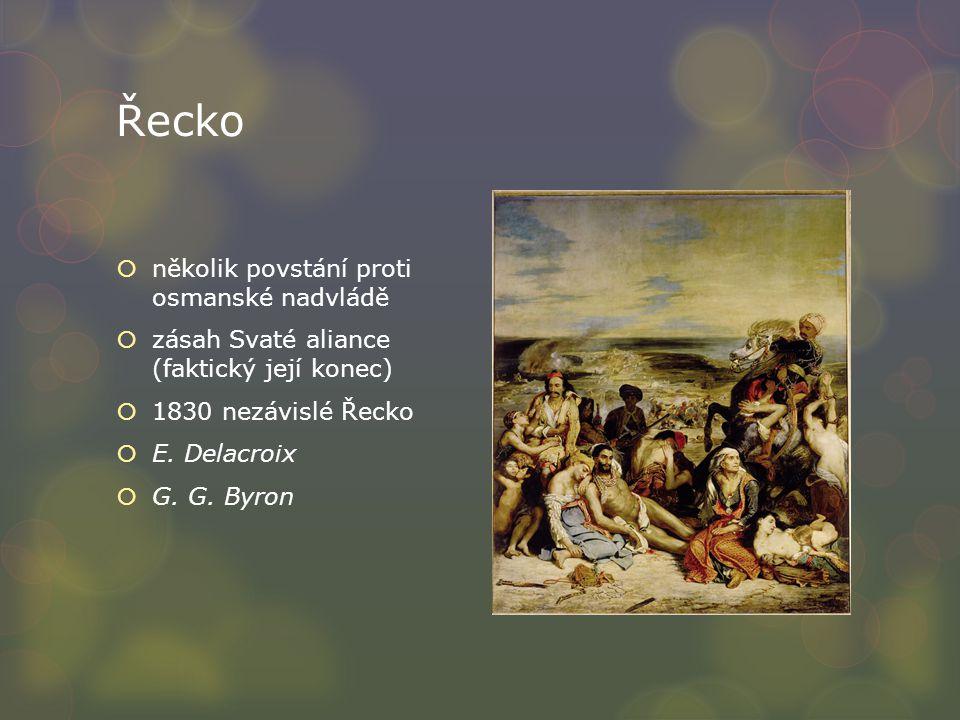 Řecko několik povstání proti osmanské nadvládě