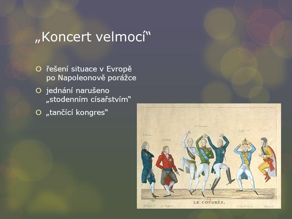 """""""Koncert velmocí řešení situace v Evropě po Napoleonově porážce"""