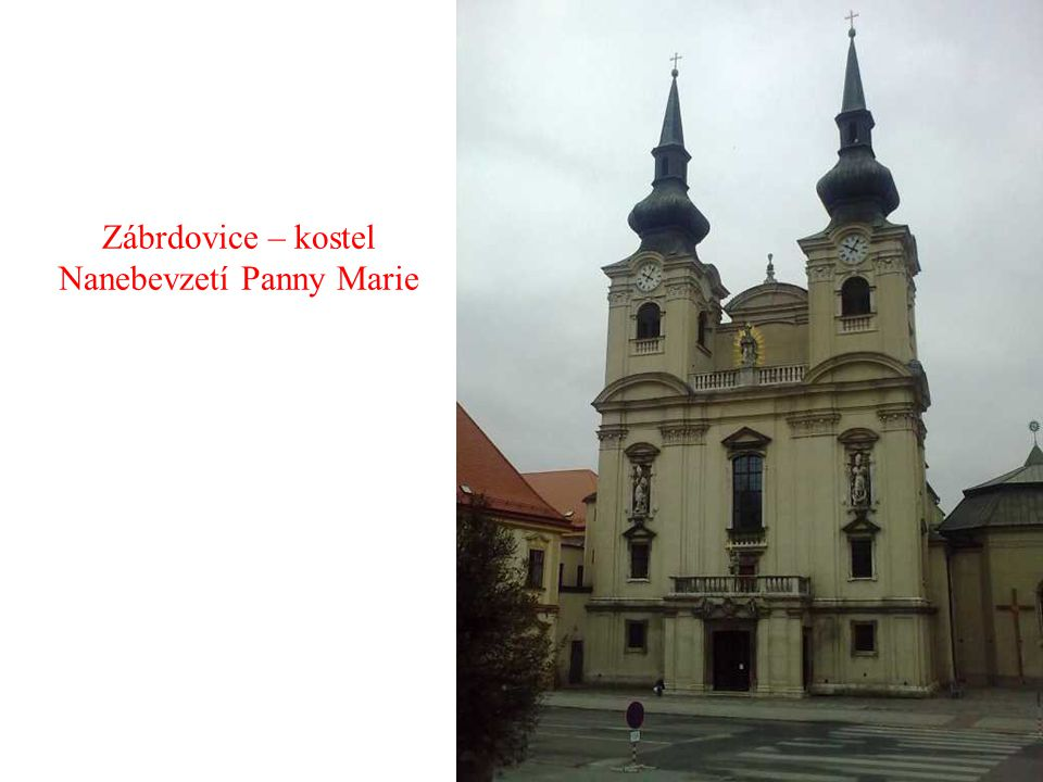 Zábrdovice – kostel Nanebevzetí Panny Marie