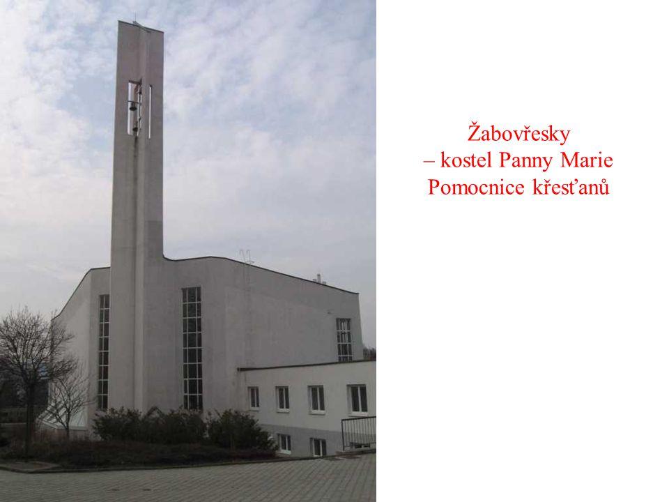 Žabovřesky – kostel Panny Marie Pomocnice křesťanů