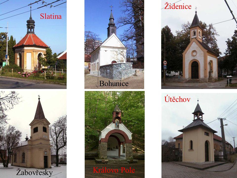 Židenice Slatina Bohunice Útěchov Královo Pole Žabovřesky