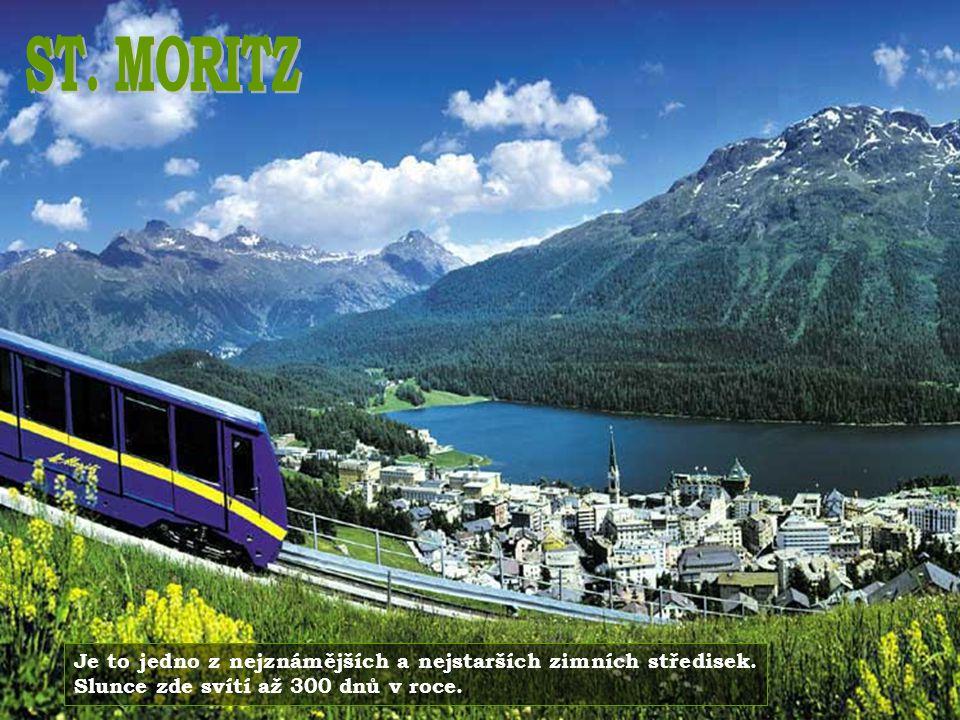 ST. MORITZ Je to jedno z nejznámějších a nejstarších zimních středisek.