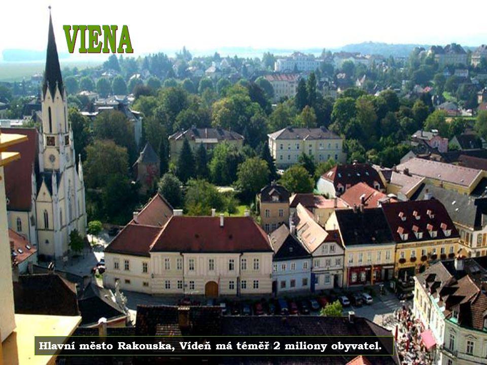 VIENA Hlavní město Rakouska, Vídeň má téměř 2 miliony obyvatel.