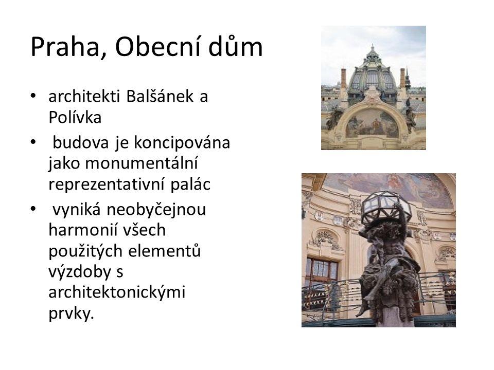 Praha, Obecní dům architekti Balšánek a Polívka