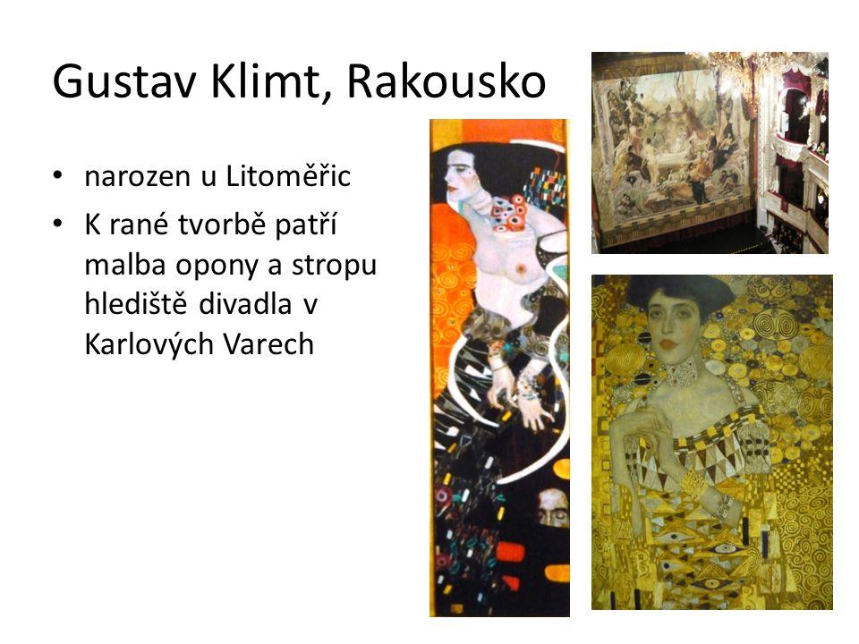 Gustav Klimt, Rakousko narozen u Litoměřic