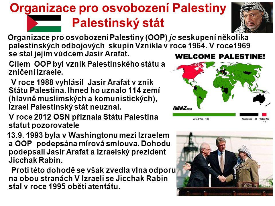 Organizace pro osvobození Palestiny Palestinský stát