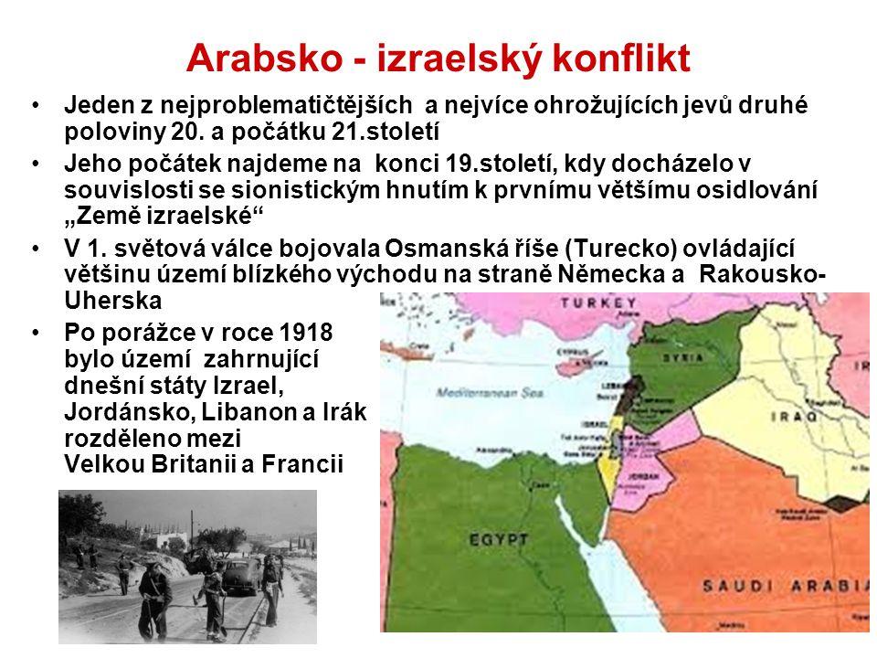 Arabsko - izraelský konflikt