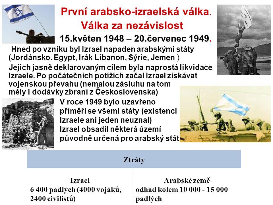 První arabsko-izraelská válka.