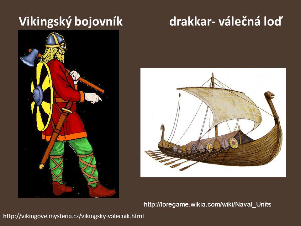 Vikingský bojovník drakkar- válečná loď