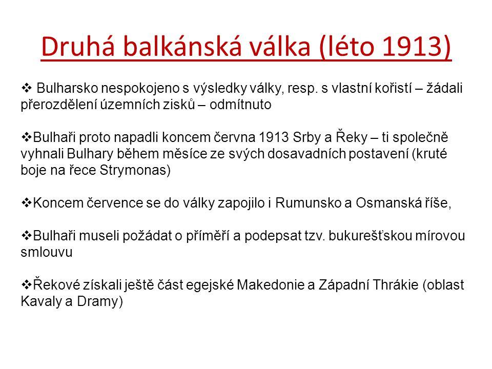 Druhá balkánská válka (léto 1913)