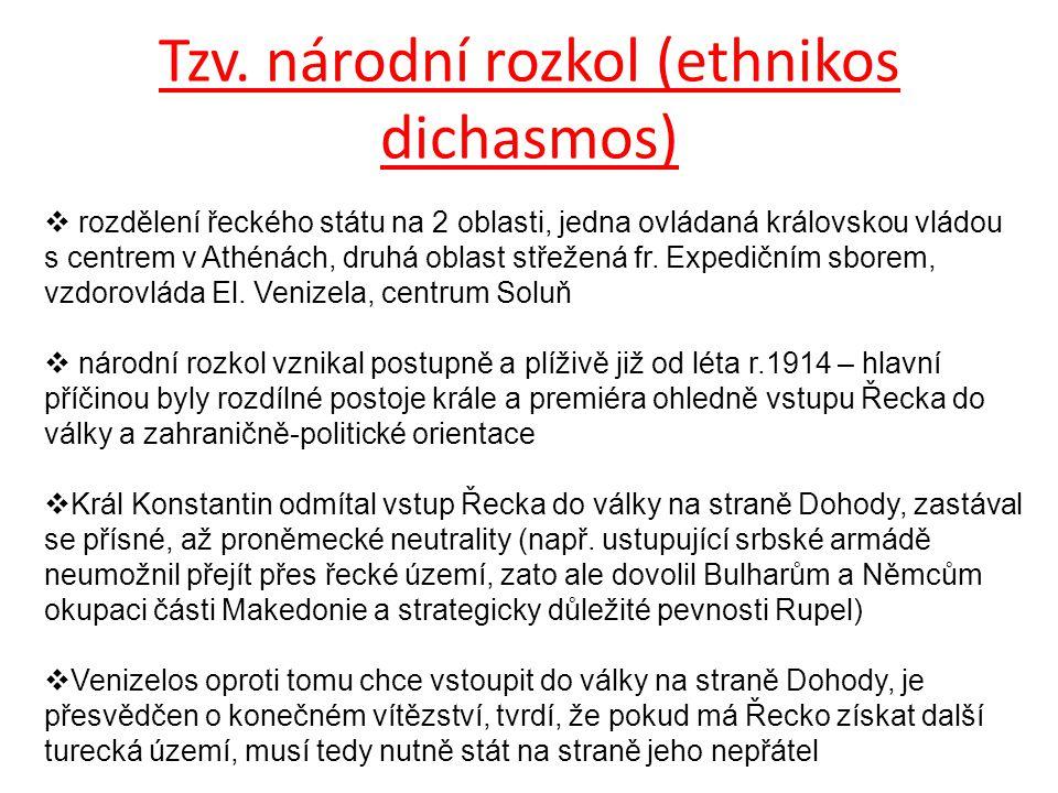 Tzv. národní rozkol (ethnikos dichasmos)