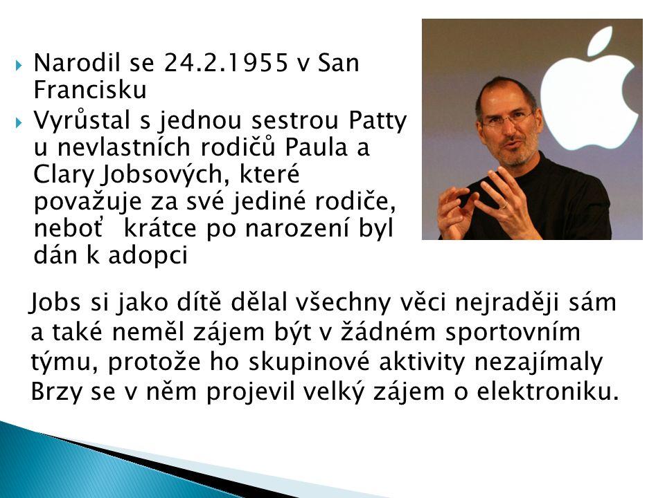 Narodil se 24.2.1955 v San Francisku