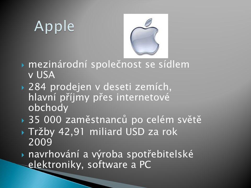 Apple mezinárodní společnost se sídlem v USA