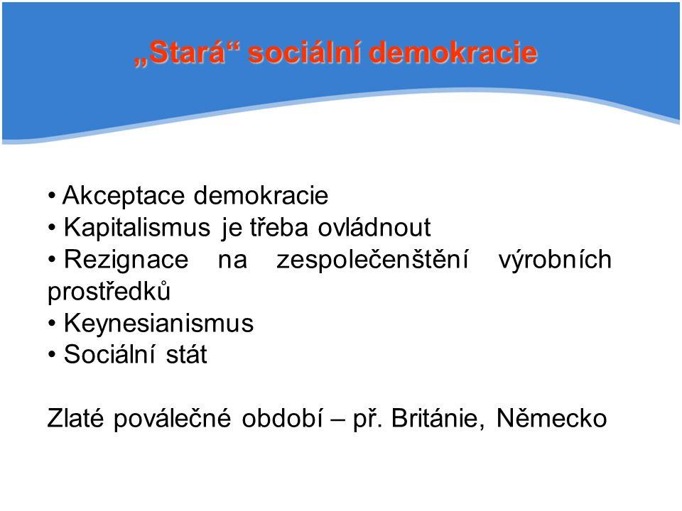 """""""Stará sociální demokracie"""