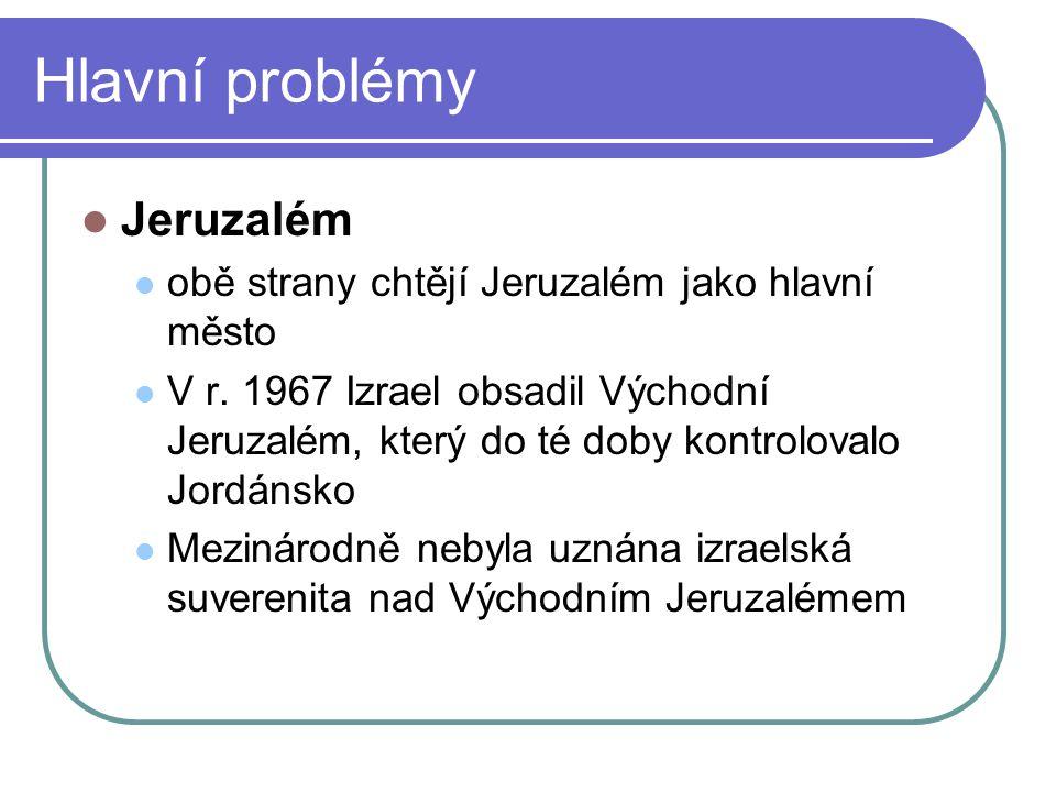 Hlavní problémy Jeruzalém