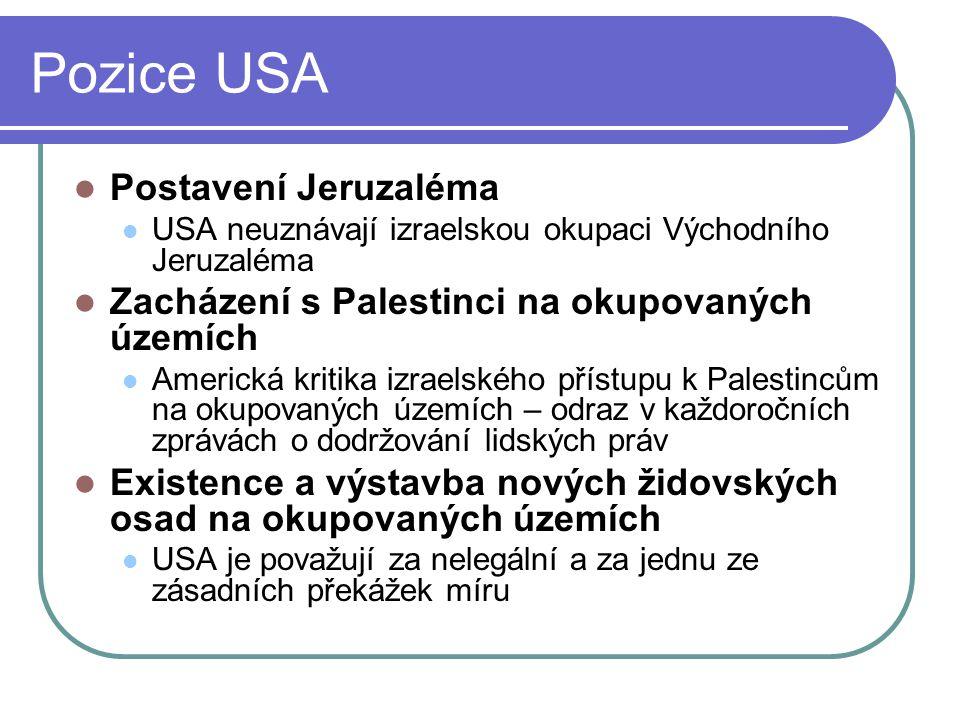 Pozice USA Postavení Jeruzaléma